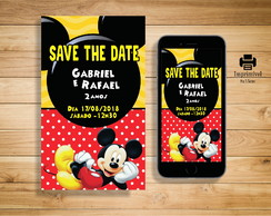 Convite Save the date Mickey - DIGITAL