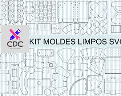 KIT MOLDES LIMPOS SVG CRICUT