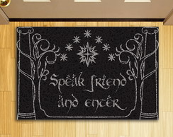 Capacho Personalizado Criativo - Geek Speak Friend Preto
