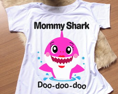Camiseta Adulto - Mommy Shark