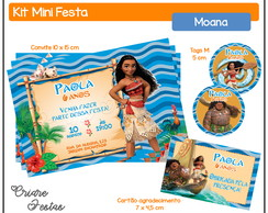 Kit Mini Festa - Moana
