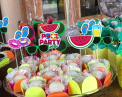 Topper para Doces do Pool Party