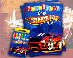 Kit Colorir Hot Wheels