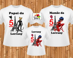 Kit 3 camisetas Lady Bug