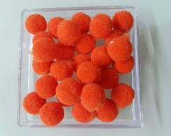 Mini Pompom 10mm Laranja