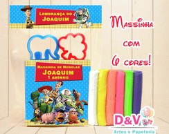 Kit de Massinha de Modelar com Moldes Toy Story