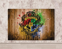 Placa Decorativa Harry Potter Hogwarts Filme Casa Pomo Mdf