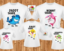 kit 5 camisetas Baby Shark