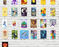 Kit 5 Placas Decorativas 20x29 + Brinde. Pokemon