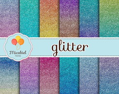 Papel Digital - Glitter (gradiente)