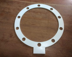 Moldura Redonda Camarim Ring Light 50cm 10 Bocais Mdf 6mm
