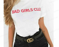 bad girl camiseta baby look branca fashion moda