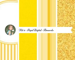 Kit Papel Digital Amarelo