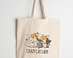 Ecobag Crazy Cat Lady (Bolsa ecológica)