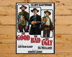 Quadro Poster The Good, The Bad And The Ugly Grande A3