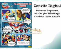 convite digital dc super hero girls