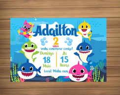 Convite Digital tema baby shark