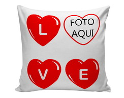 almofada decorativa love