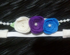Head band com pérolas