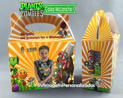 Caixa Lanche Feliz Plants vs Zombies