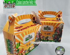 Plants vs Zombies Caixa Lanche Feliz
