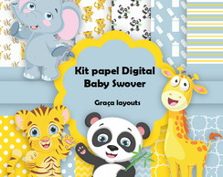 Kit Papel Digital baby swover