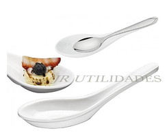 Colher Finger Food Gourmet Buffet descanso Porcelana 387