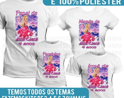 3 camisetas Barbie Princesas camisas Barbie fashion