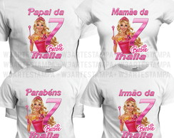 4 camisetas Barbie Princesas camisas Barbie fashion