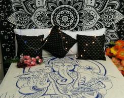 347b27211e86 ... Tecido colorido artesanal ganesha cortina colcha casal manta