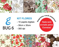Kit Papel Digital Flores
