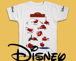 CAMISETAS CARTOON - DISNEY-TIMÃO E PUMBA - ADULTO E INFANTIL