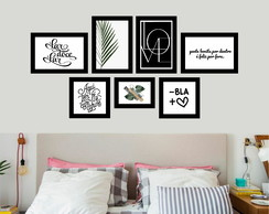 Kit 7 Placas Decorativas - Lar Doce Lar