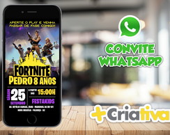 CONVITE WHATSAPP FORTNITE