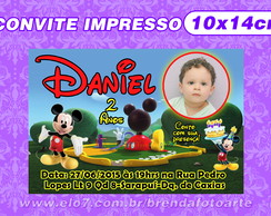 Convite Casa do Mickey Mouse