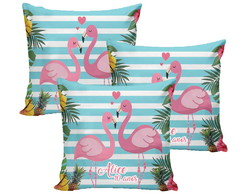 Almofada 20x20 Flamingo Festa do Pijama