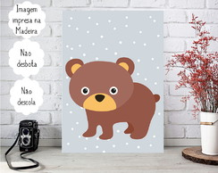Placa decorativa Personalizada Animais do Bosque - Urso