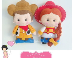 Duo - Xerife Woody e Jessie - Molde Digital - Toy Story