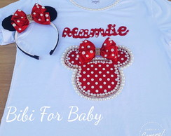 Camiseta Minnie Vermelha + Tiara Minnie