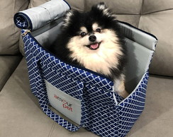 Bolsa de Transporte Fashion Pet - Imperial Azul e Cinza