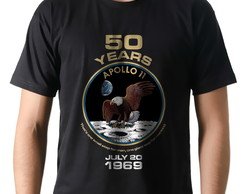 Camiseta Camisa Geek Nasa Apollo XI 50 Anos do Pouso na Lua