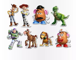 Kit Topper de Bolo Toy Story - 6 toppers personalizados