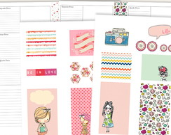 (ARQUIVO DIGITAL) 2 EM 1 EMPLANNER E SCRAP LITTLE GIRLS A5