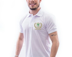 CAMISA POLO UNIVERSITÁRIA BORDADA FISIOTERAPIA MASCULINA