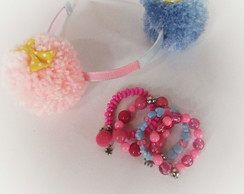 Tiara lol Surprise Rosa e Azul (lol Sugar) + Pulseira