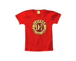 Camiseta INFANTIL OU Body Plataforma Hogwarts Harry Potter 1