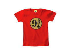 Camiseta INFANTIL OU Body Plataforma Hogwarts Harry Potter 2