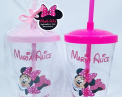 Copo Twister Minnie Rosa 80un