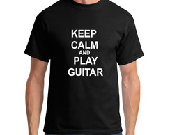 Camiseta keep calm guitar