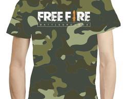 Camisa Camiseta Game Free Fire Camuflagem - Estampa Total 08
